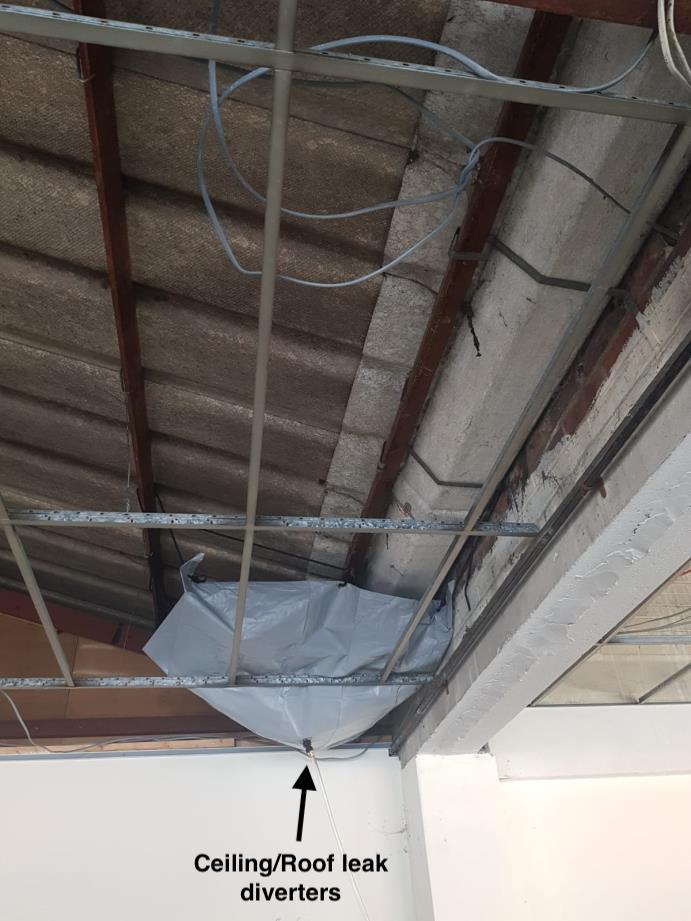 roof leak diversion